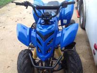 Kids 4-wheeler 110 cc Kazuma Falcon Blue, seldom used