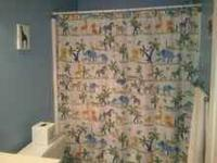 For sale is a jungle themed bathroom set. Comes from