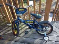 Nice batman kids bike. In good condition. Has training