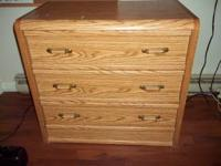 3 drawer chest and desk. Lik new. $50 each.  Very