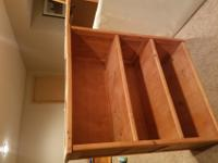 6 pieces, two twin beds, dresser, desk, bookshelf, and
