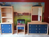 5 Piece Kids Palliser Bedroom Set .  Includes Dresser,