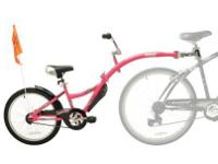 WeeRide Co-Pilot Back Seat Driver Bike Trailer- Pink