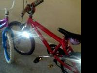 5 kids bikes from ages 4-10 girls and boys bikes good