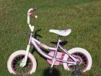 "Girl's bicycle ""Barbie"" for 3-4 year olds. Needs new"