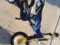 Children's bike. Used. Needs new training wheels or