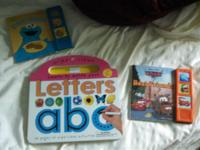 Three kids books. 2 make noise with the story