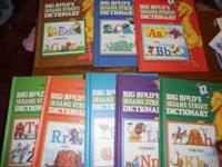 Big Birds Seasame Street Dictionary's 8 books that