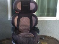 Kids booster seat with back. Back is adjustable and