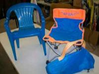 i have 2 childrens blue patio chairs. asking $5 for