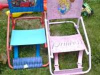 two kids chairs, both great shape. 1.00 EACH. email or