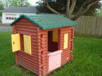 Log cabin style club house for a boy or girl. Pruchased
