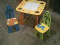 I have little kids crayola table with 2 chairs $15