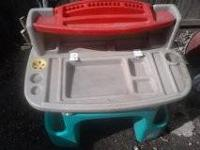 Heavy Duty Plastic in good condition,have the top piece