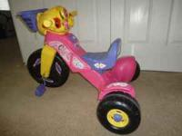 Kids Dora Tricycle with lights and sounds. Was out on