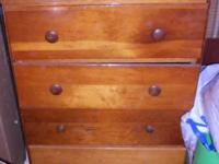 Small wood dresser for a kids room. $50, OBO