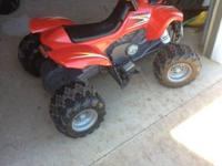For sale: Kids electric ATV.  Great condition & very