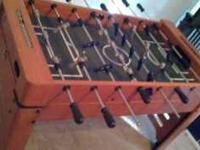 I'm selling a kids foosball table. It has some wear and