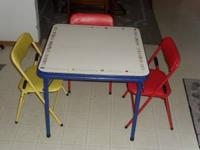 We have a Kids Game Card Table w/chairs for sale. the