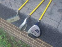 FEATURES DRIVER 27.5 INCHES-- IRON 23.5 INCHES-- PUTTER