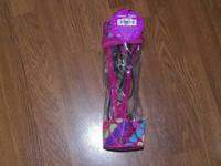 "1"" ceramic straightener Its pink with peace signs"