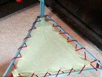 Kids indoor trampoline in excellent condition, hardly