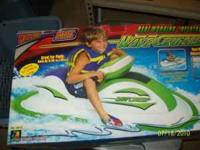 Kids battery powered jet ski, great for pond or pool,