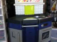 Kids kitchen about 3' x 3 1/2' can text pic. Call or