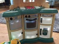 Children Kitchen set with food. Excellent condition.