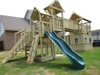 All playsets are custom built onsite for each customer.