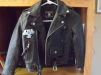 little girl's real leather jacket size 6 brand new