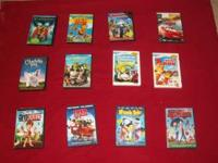 kids movies on dvd.....5.00 each  or  scooby doo