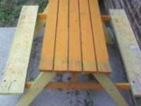 I have a childrens picnic table for sale that has