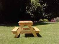 Perfect for summer BBQ's $40 unstained $60 stained or
