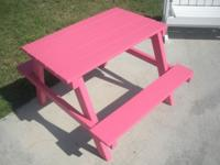 new kids picnic tables $25.00 [each]   {many colors to