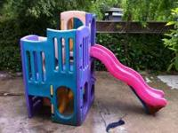 plastic kids play structure with slide, great for