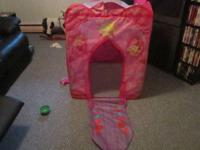 I have 2 play tents for sale. The first is a Dora tent