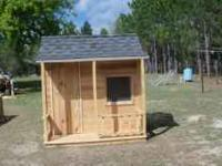 I build these playhouse.They are new.Have a porch with