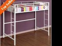 KIDS > RED METAL LOFT BED .. ... $100' DOLLARS .. OR ..
