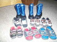 i have two parts of kids boots both blue size 12 , one