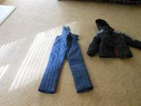 Barely used, snow jacket and snow pants suitable for