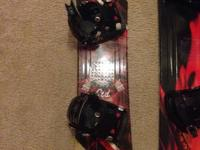 Kids LTD 105 racer with flow bindings and Morrow boots