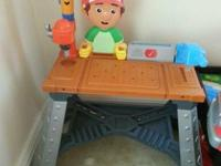Handy Manny Work Bench missing tools $20 Rock-a-bye