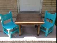 Cute kids table and two chairs. Asking $40 OBO Please