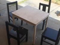Kids table and chairs set. Came from ikea. In rough