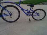 Kids tandem bicycle. Was $175 new. In excellent
