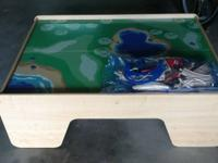 Kids train table. Good condition. Tracks and trains