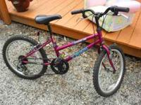 "KIDS 20"" TREK MOUNTAIN LION 60 6 SPEED BIKE, DEEP PLUM"