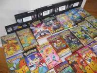 16 VHS movies of the DragonballZ, Digimon series and