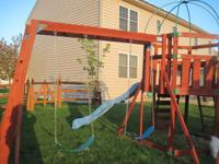 Wooden playset (Creative Playthings) with 2 swing